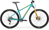 "Велосипед '21 Merida Big.Nine 200 Рама:L(18.5"") Teal-Blue/Orange"